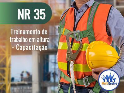 NR 35, Treinamento de trabalho em altura - Capacitação - Veja detalhes: