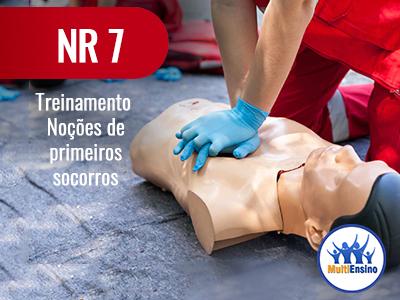 NR 7 Treinamento noções de primeiros socorros:  Veja detalhes: