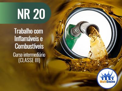 NR 20 Trabalho com inflamáveis e Combustíveis (Curso básico CLASSE III) Veja detalhes: